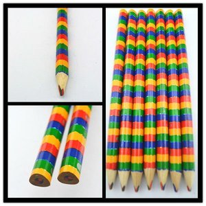 Triangular Jumbo Multi Pencil Color Rainbow Lead 4 in 1 Pencil, 5mm lead