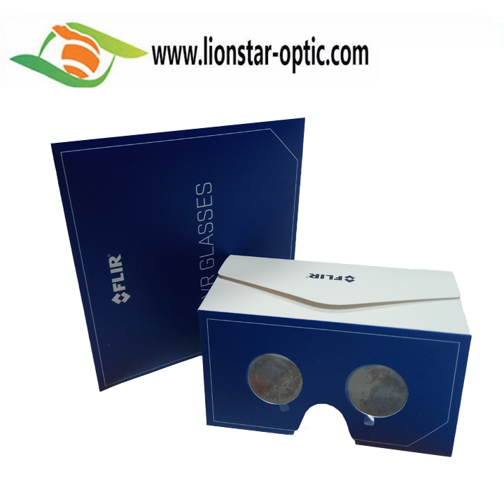 Flat Virtual Reality Cardboard VR Glasses 3D Google Headset for Smartphone
