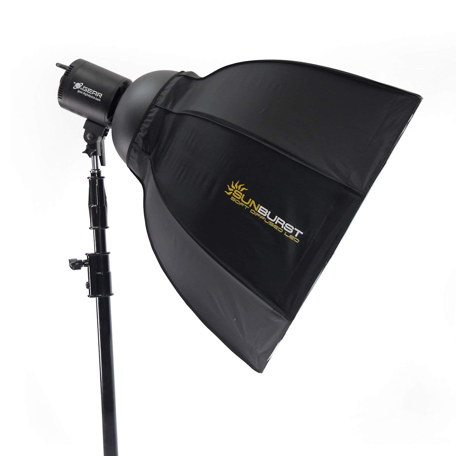Digital Juice Sunburst Photography Softbox Lighting Kit w/ 288 LED Lighting, Softbox Light Diffuser w/Umbrella Reflector & Portable, Deluxe Carry Case for Photography & Videography
