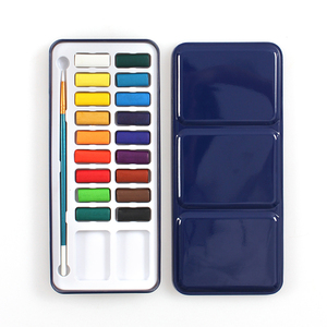12/24/36 Colors Artist quality water color cake water color paint set with tin box