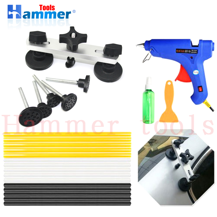 PDR Bridge Puller Sets Verf minder Dent Removal Repair Tool Mini Lifter Tap Down Hagel Reparatie Set