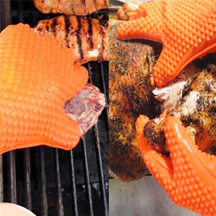 Hittebestendige Siliconen Oven Handschoen Keuken BBQ Grillen Koken Handschoenen En Siliconen Rubber Handschoenen Ovenwanten