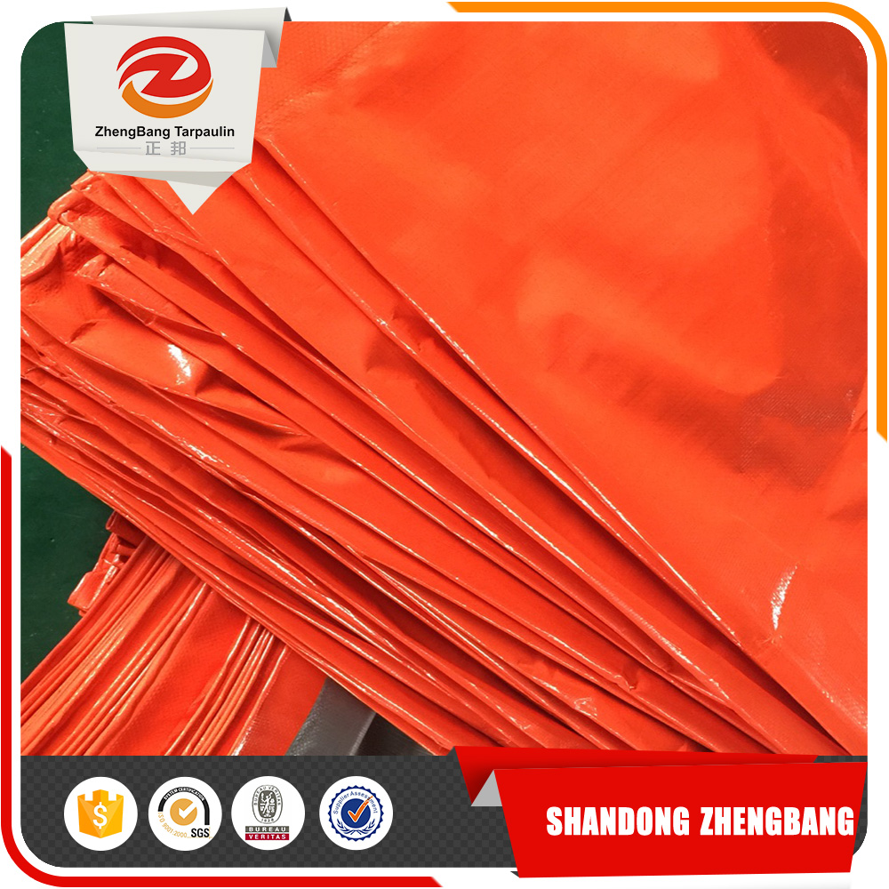 Orange pe tarpaulin for tent, bag, truck cover and etc