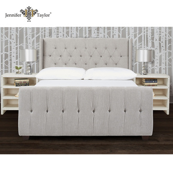 High Quality Queen Bed Frame Fabric Bed/upholstered Queen Size ...