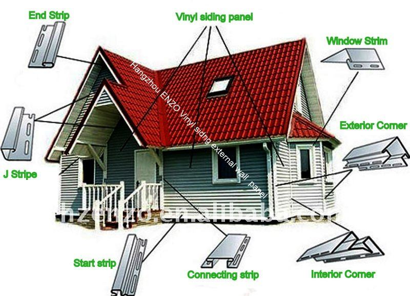 Viny siding Very easy install external wall cladding