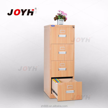 knock down wooden color 4 drawer lateral file cabinet hot sell in south America