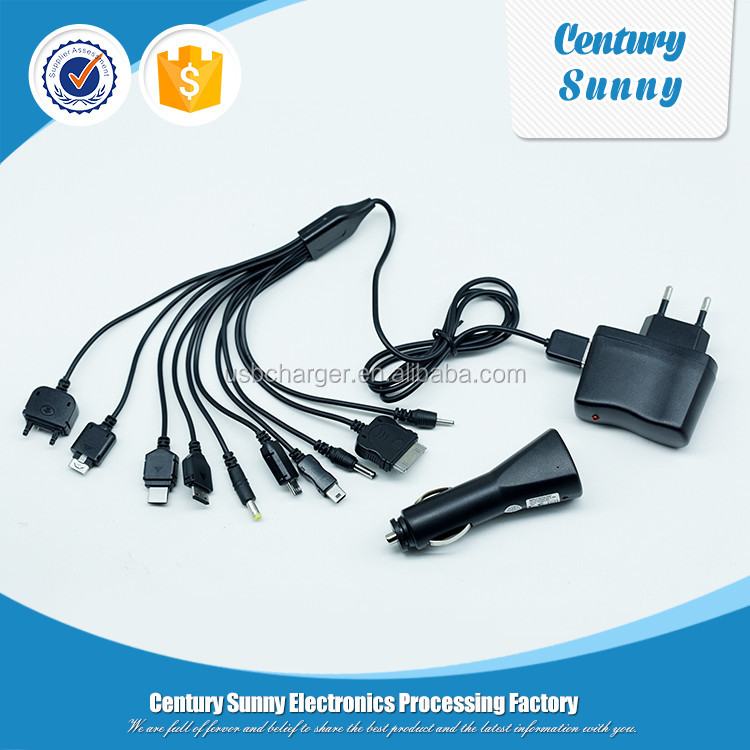 Travel mobile phone micro usb 5v 2a ac wall/car chargers set