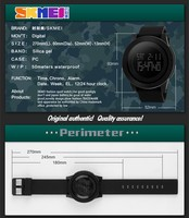 Skmei 1142 Black Watch Waterproof Man Sport Digital Watch ...