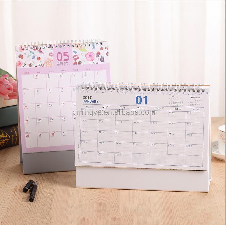 Kantoor beschrijfbare maandelijkse papier bureau kalender for Bureau kalender