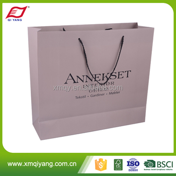 OEM custom fashion retail foldable clothes shopping paper bags with logo print
