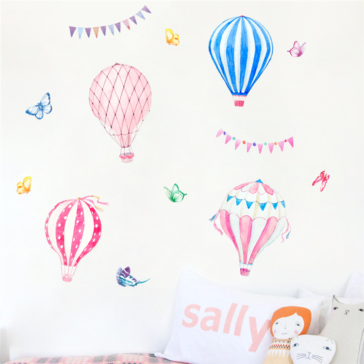 Cartoon candy color balloon wall sticker kids room living room nursery decoration pvc waterproof adhesive wall decal murals