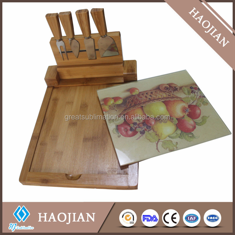 wood cheese cutting board bamboo cheese tray set cheese knives set