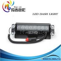 Amber/White Red/blue 8-LED emergency vehicle warning flashing strobe lighting kit Dash Lights