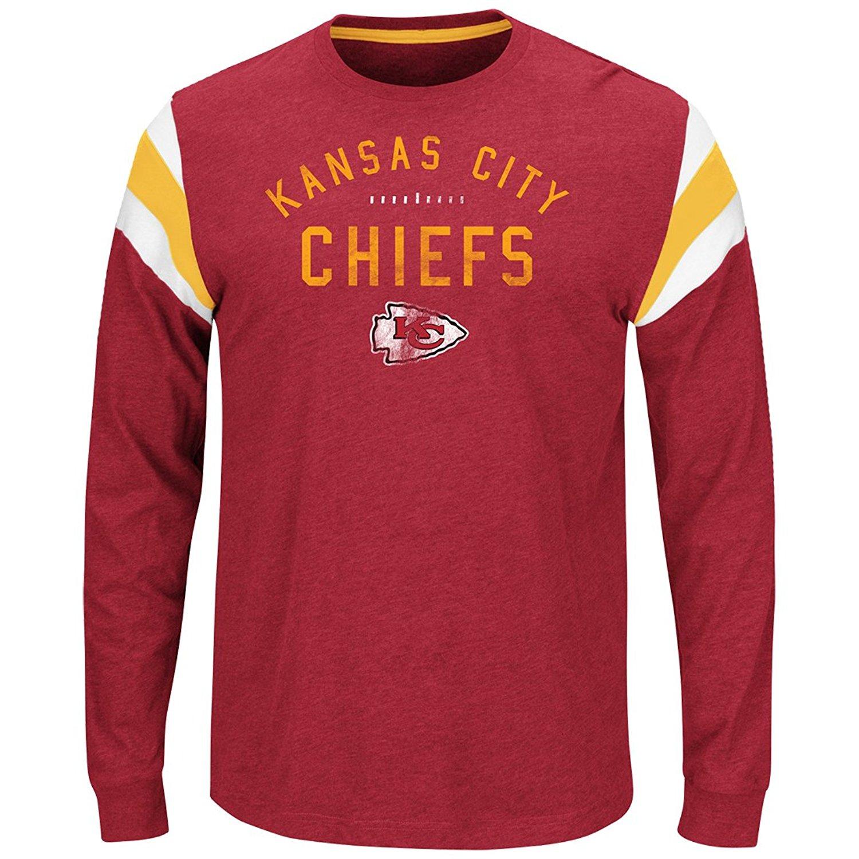 "Kansas City Chiefs Majestic NFL ""Showcase Classic"" Men's Long Sleeve Crew Shirt"