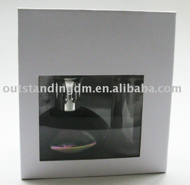 Factory Made Black Romantic Customized Glass Fragrance Oil Lamp