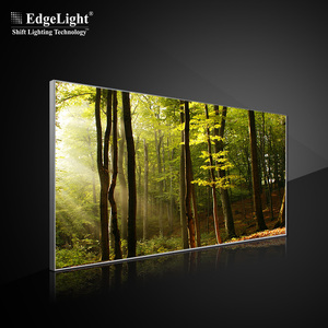Elegent textile edge lit slim light box for expo