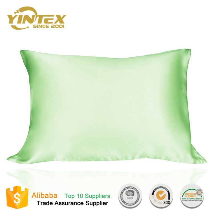 China manufacturer 100% silk 19mm solid colour queen size pillow cover pillow case /pillowcases
