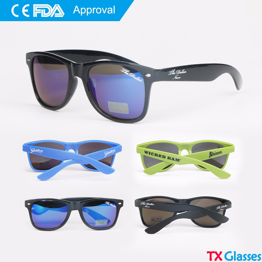 FDA CE Approval, promotion printed glasses, custom logo printing sunglasses