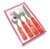 A680-16P Christmas Promotional Best Choice: Snow man pattern cutlery set