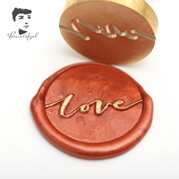 Hot selling wax seal stamp with colorized wooden handle