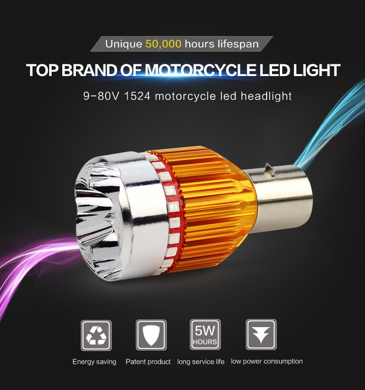Colorful motorcycle light led headlight