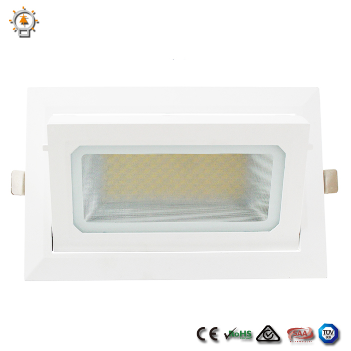 50W led downlight manufacture supply size :230*127 square led downlight retrofit