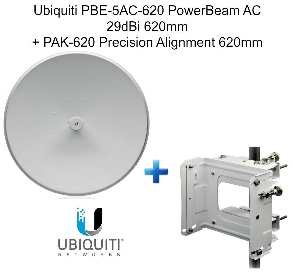 Ubiquiti PBE-5AC-620 PowerBeam AC 29dBi 620mm+ PAK-620 Precision Alignment 620mm