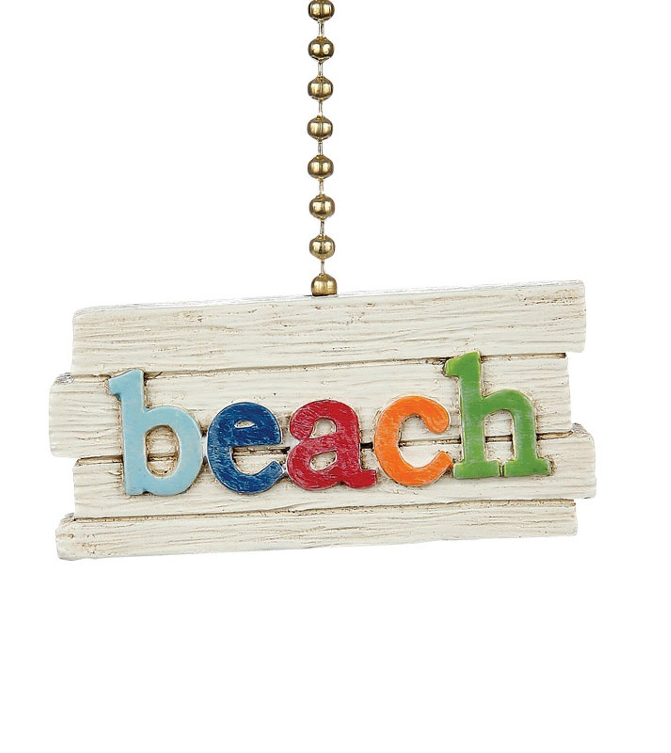Clementine Design Colorful Beach Sign Ceiling Fan Pull