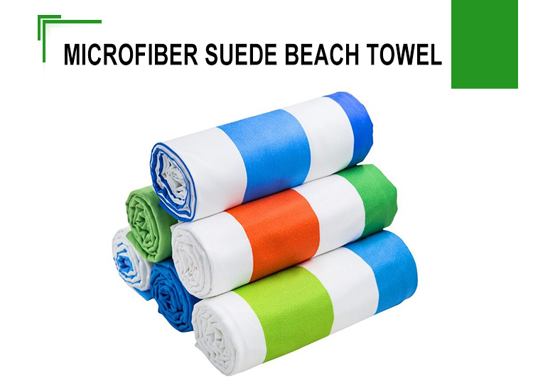 Personalized microfiber suede outdoor Quick dry travel promotional round beach towel