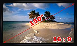 """Antra PSF-150A 150"""" 16:9 Fixed Projector Projection Screen Matte White"""