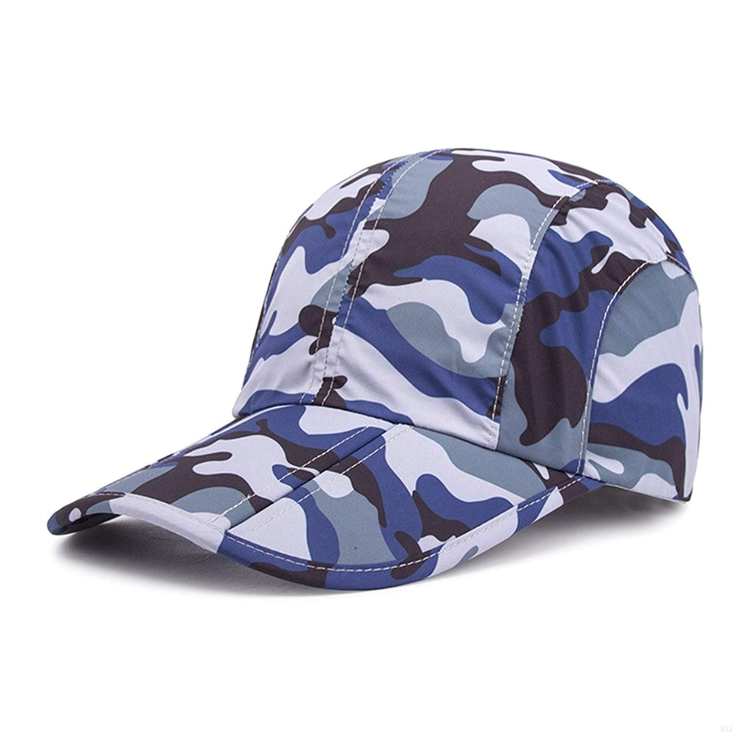 Get Quotations · GADIEMENSS Quick-Drying Folding Brim Camo Baseball Hat for  Women Men 7efc0b2e8809