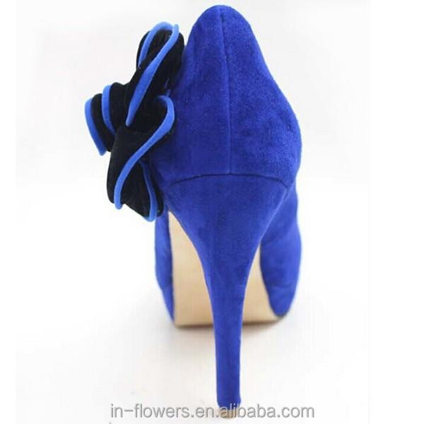 brand bule heel dress shoes suede shoe Custom women made handmade xqO0Inw4E