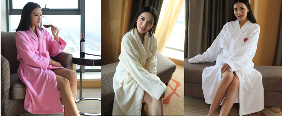 Popular Waffle 100%Cotton Bathrobe for Hotel
