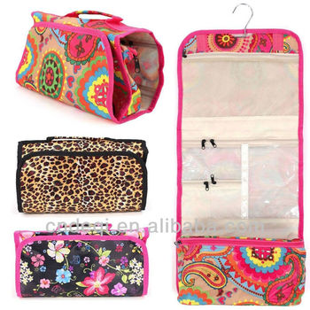 Makeup Cosmetic Bag Case Jewelry Travel All Over Print Hand Roll Up