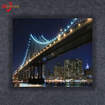 Modern wall picture canvas painting colorful bridge photo print decoration landscape art for living room
