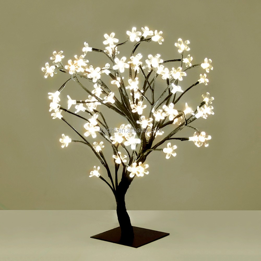 48l warm white christmas led tree lights with cherry blossom flower buy light up tree branchestree lights with cherry blossomled tree branch product on