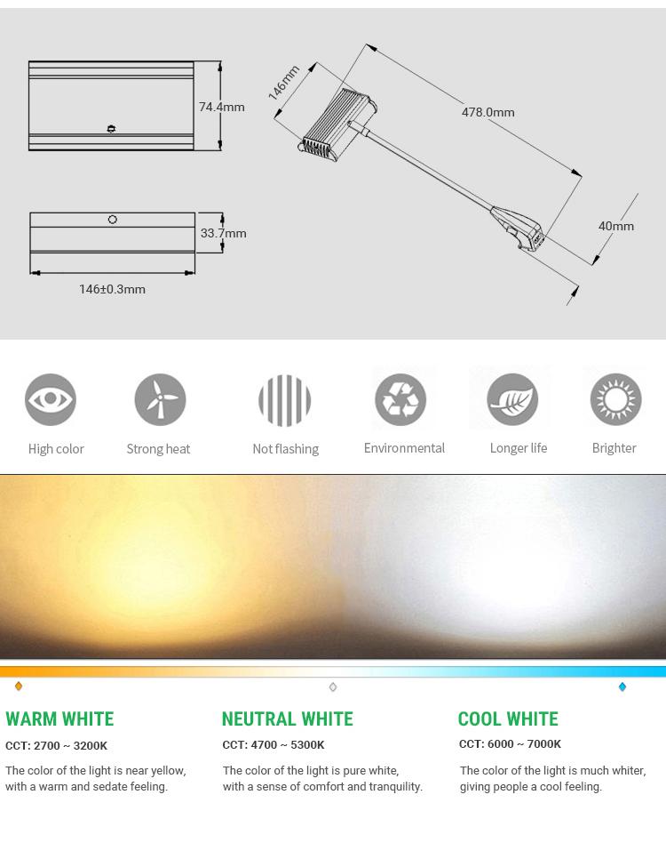SL-025-42L 1800LM 24W led lighting,  banner stand led arm exhibition light