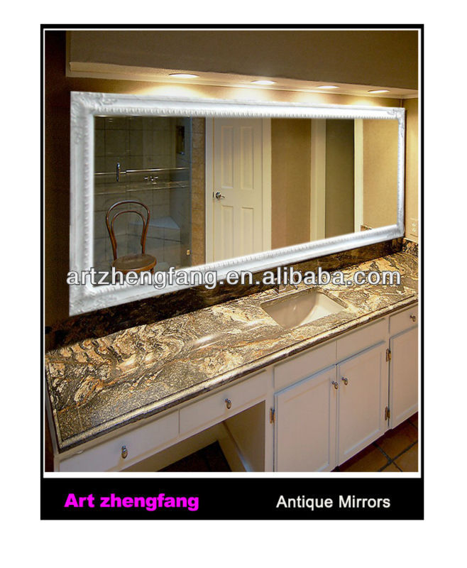 Hotel decoration Large Rectangular Wood Frame Mirror,Wall Mirror,Bathroom Mirror