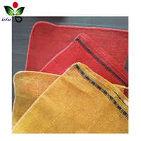 Hot sale polypropylene knitted plastic leno mesh drawstring bags