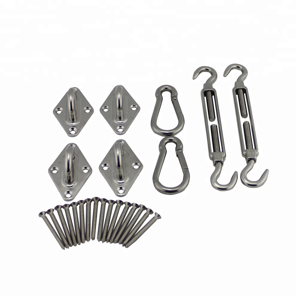 6mm Stainless Rectangle Sails Anti-Rust <strong>Sun</strong> Shade Sail Hardware Kit