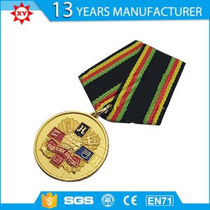 Factory direct sell officer military medal with ribbon