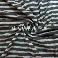 100 cotton yarn dye stripe knitted single jersey