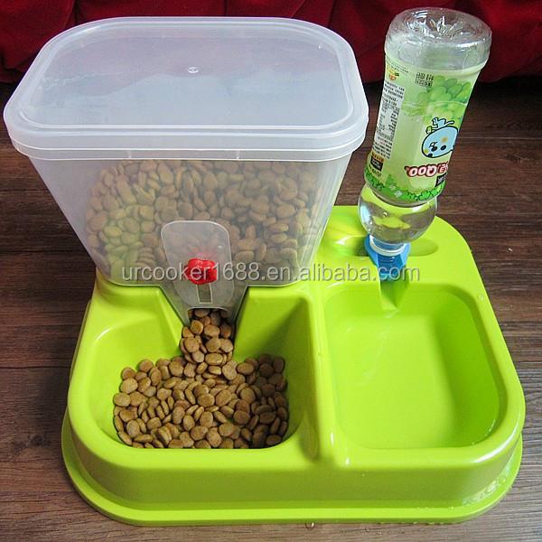 Automatic Pet Cat Dog Rabbit Food Water Bowl Bottle Feeder