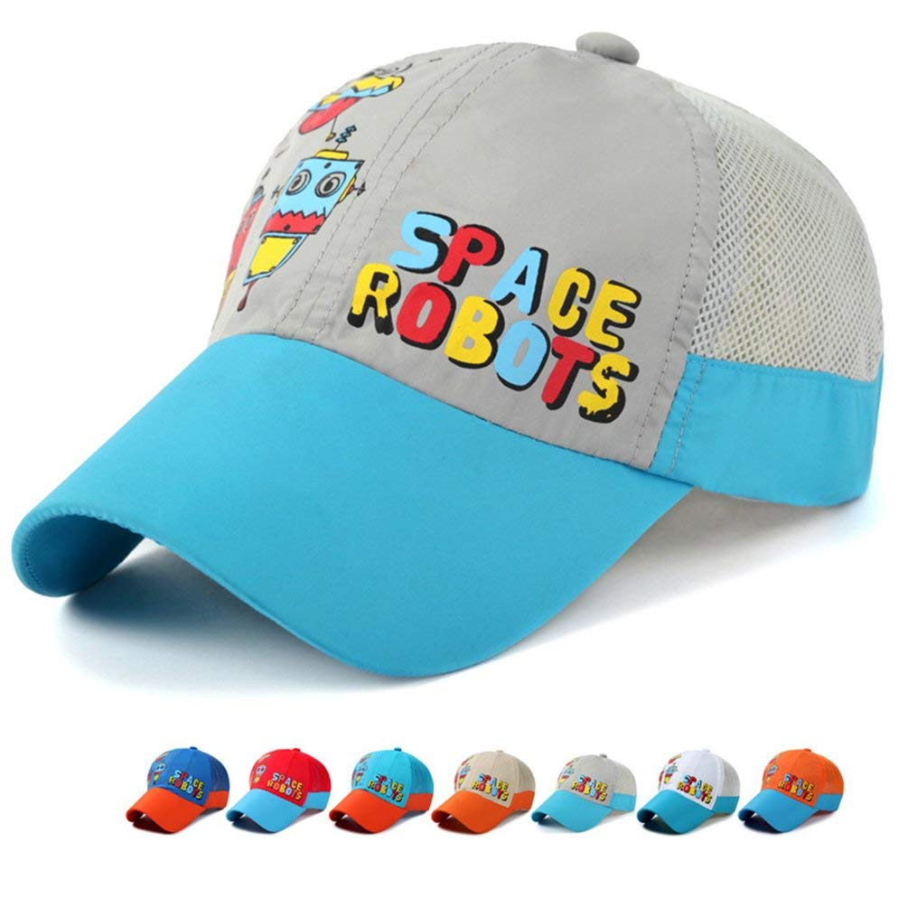6d78e5df66d66 Get Quotations · Kids Sun Protection Mesh Hats - UV Sun Hat Lightweight  Quick Drying Baseball Caps