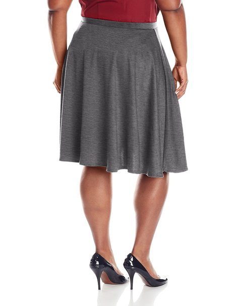 b8fc3cdb937 Get Quotations · 2015 Spring Autumn Women s Plus-Size Knee Length Full Skater  Skirt