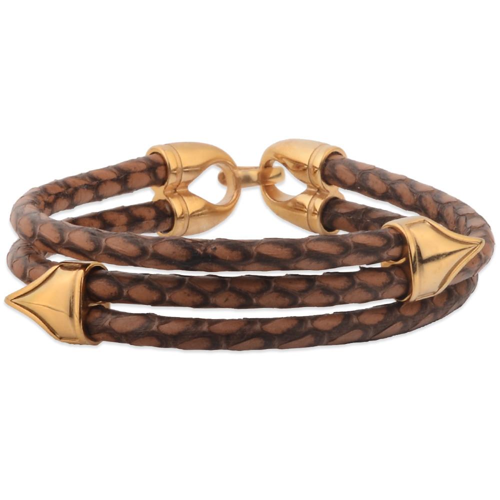 Personalized Bulk Mens Leather Python Bracelet Product On Alibaba
