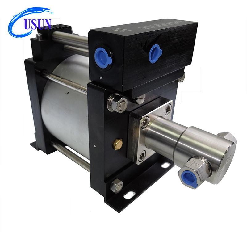 USUN Model:AH80 300-600 bar Air driven hydraulic booster pump for hydrostatic testing