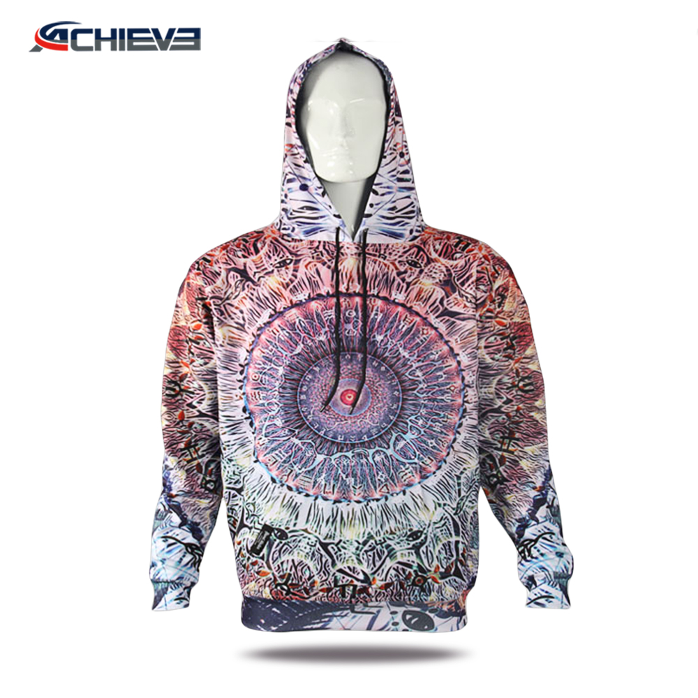 Men's Printed Pullover Sweatshirt With Hoody