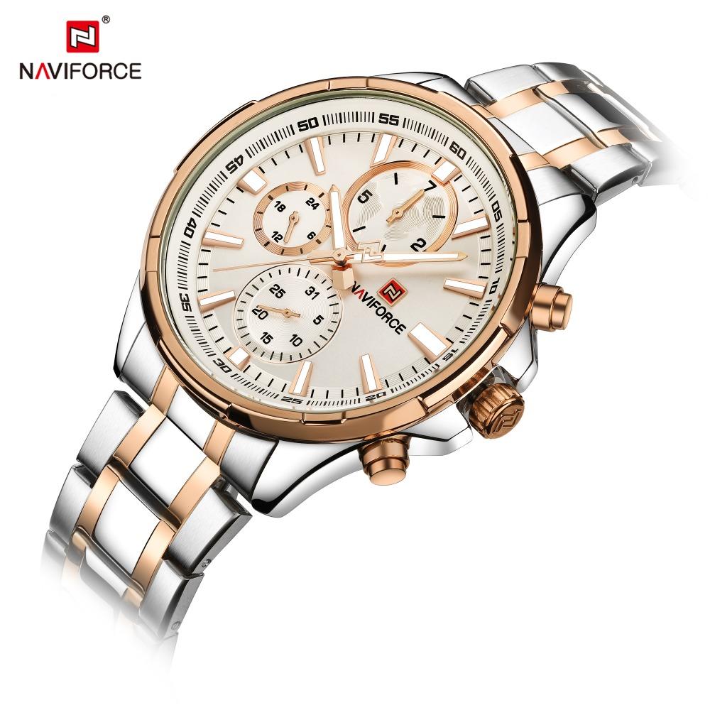 Naviforce 9089 Men's Japan Quartz watch Luxury Waterproof Sports Watches Steel Military Chronograph Wristwatch Relogio Masculino