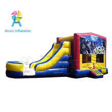 Commercial children batman inflatable slide with bouncer house